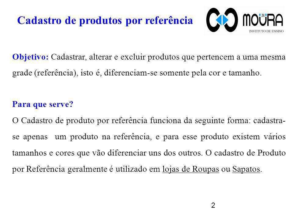 Cadastro de produtos por referência