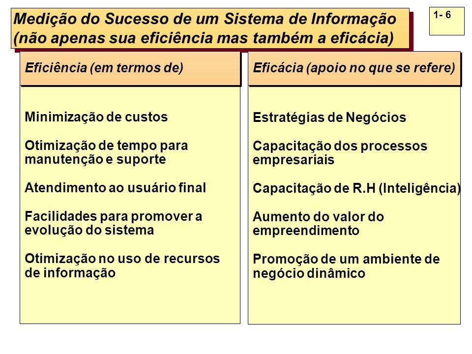 Eficiência e Eficácia em Sistemas de Informação