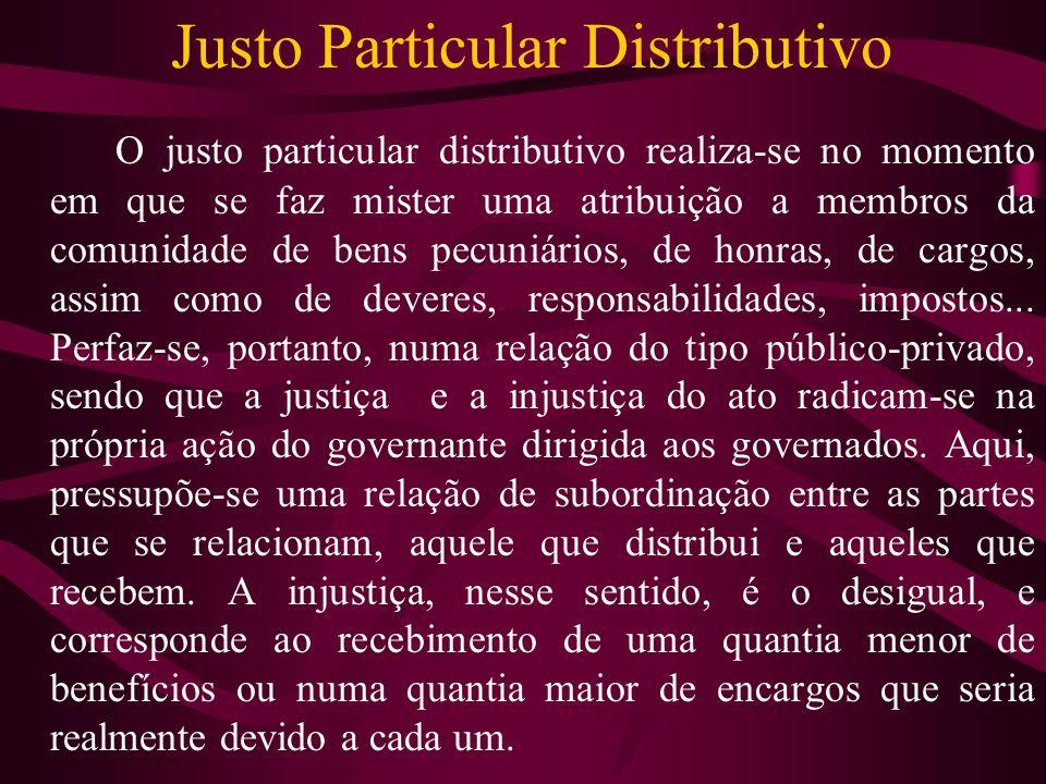 Justo Particular Distributivo