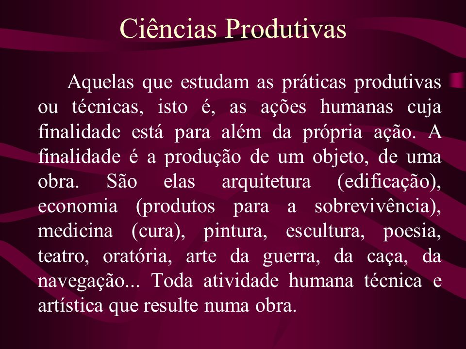 Ciências Produtivas