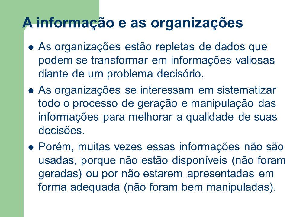 A informação e as organizações