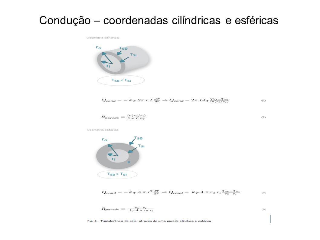Condução – coordenadas cilíndricas e esféricas