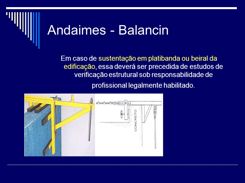 Andaimes - Balancin