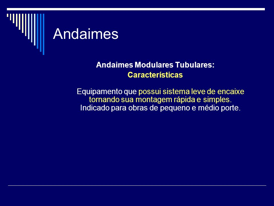Andaimes Modulares Tubulares: