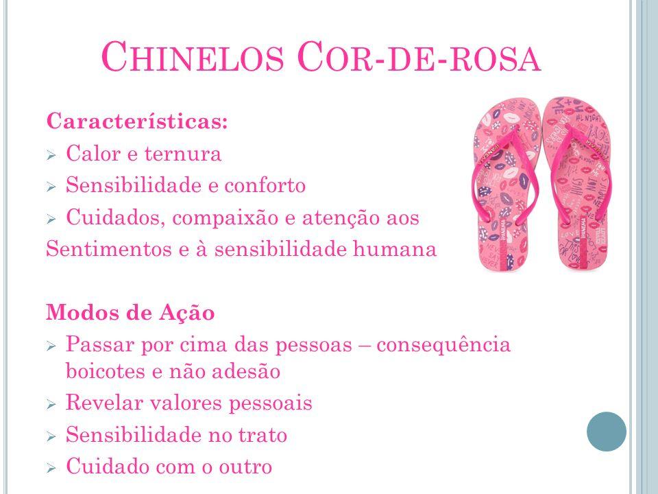 Chinelos Cor-de-rosa Características: Calor e ternura