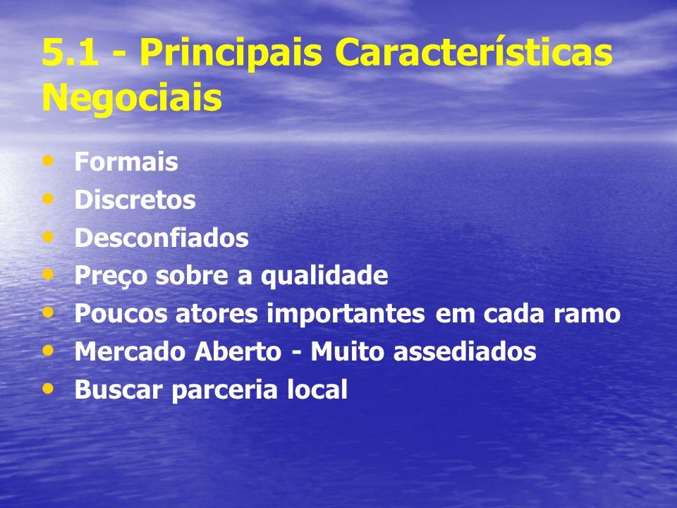 5.1 - Principais Características Negociais