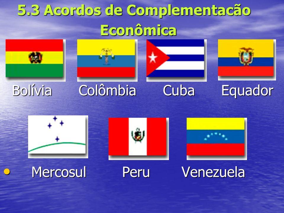5.3 Acordos de Complementacão Econômica