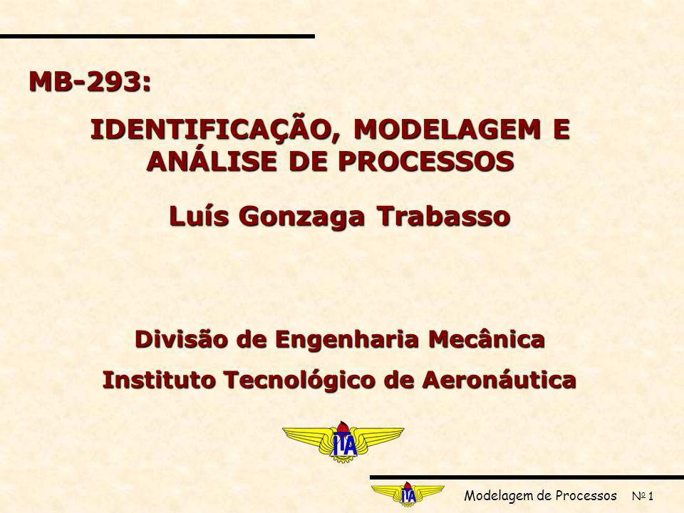 IDENTIFICAÇÃO, MODELAGEM E ANÁLISE DE PROCESSOS Luís Gonzaga Trabasso