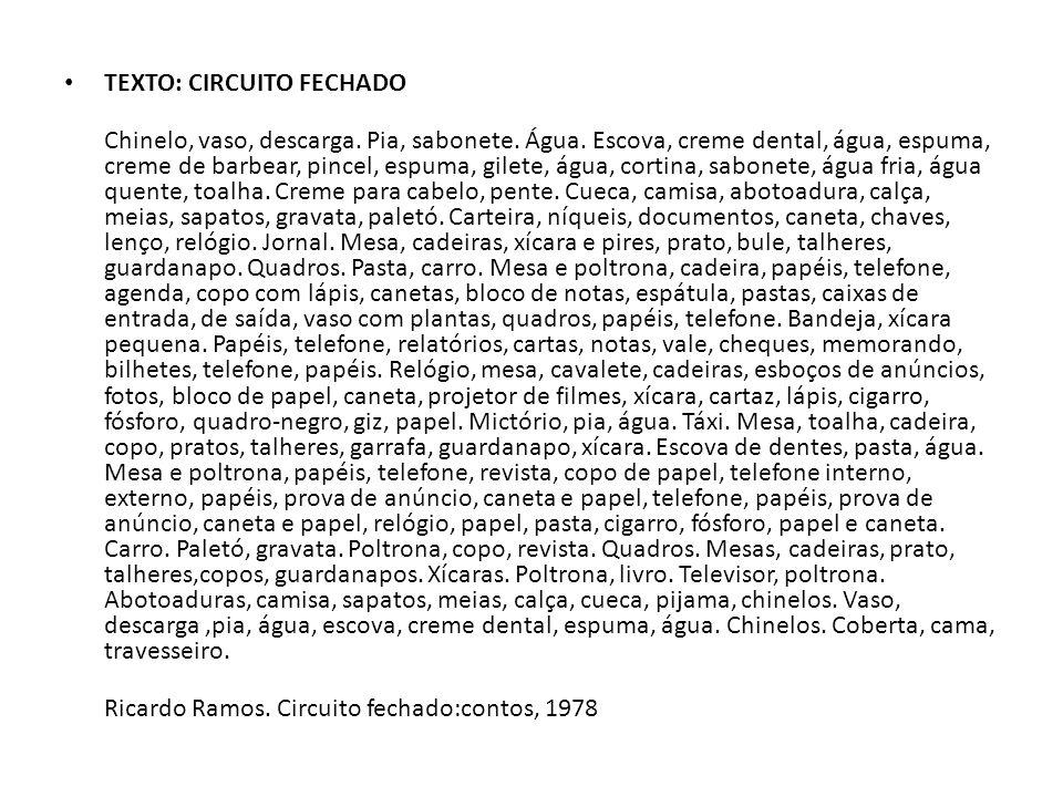 TEXTO: CIRCUITO FECHADO