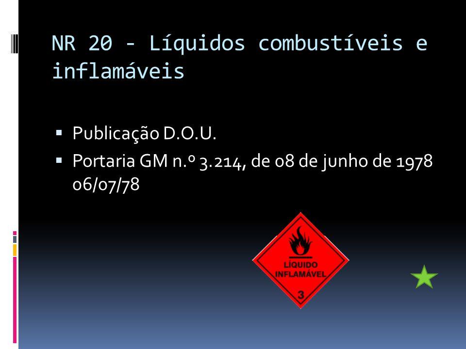 NR 20 - Líquidos combustíveis e inflamáveis