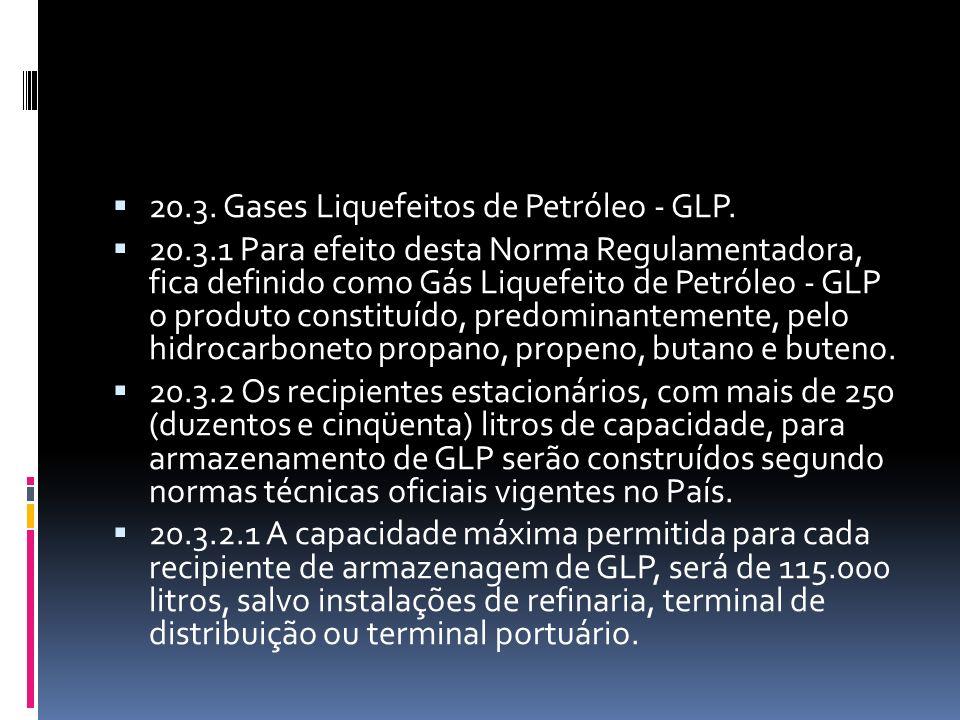 20.3. Gases Liquefeitos de Petróleo - GLP.