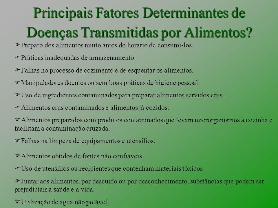 Principais Fatores Determinantes de Doenças Transmitidas por Alimentos