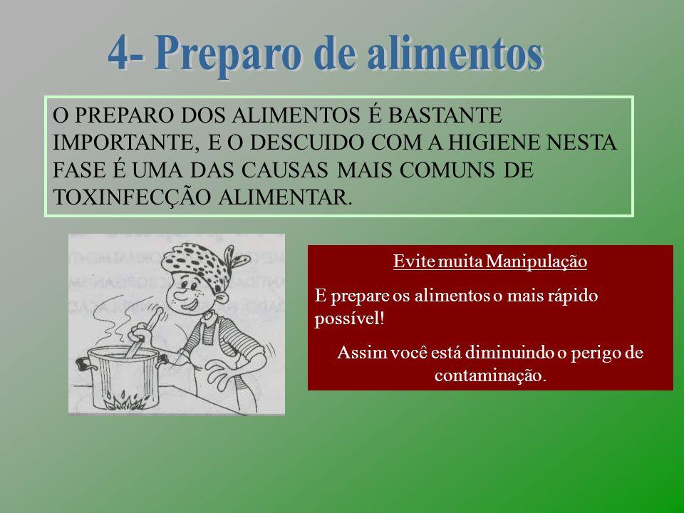 4- Preparo de alimentos