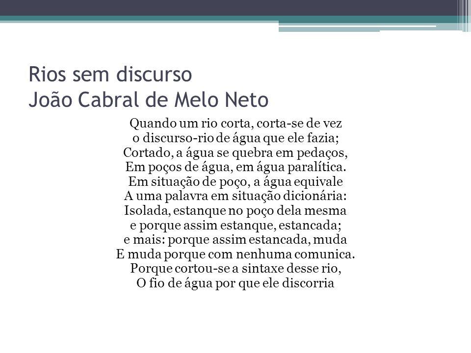 Rios sem discurso João Cabral de Melo Neto