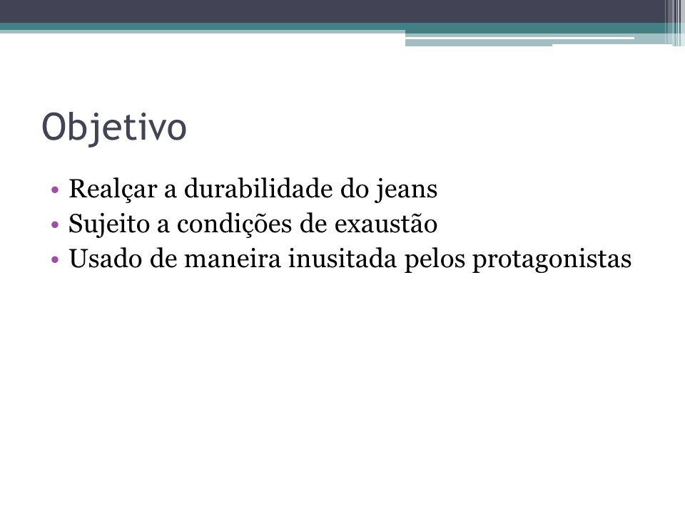 Objetivo Realçar a durabilidade do jeans