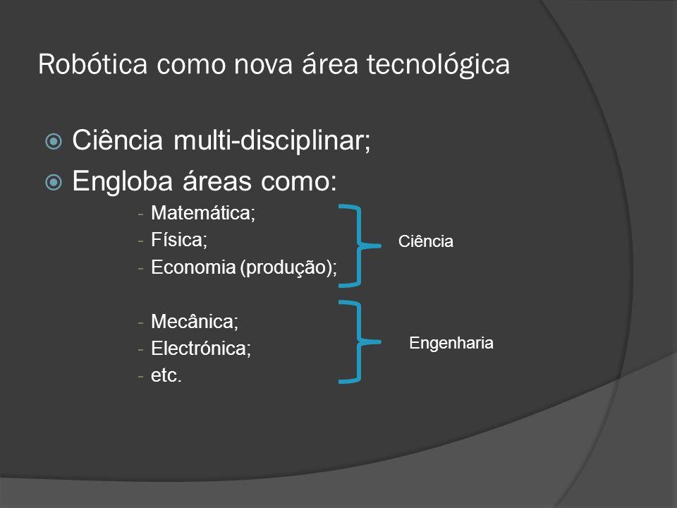 Robótica como nova área tecnológica