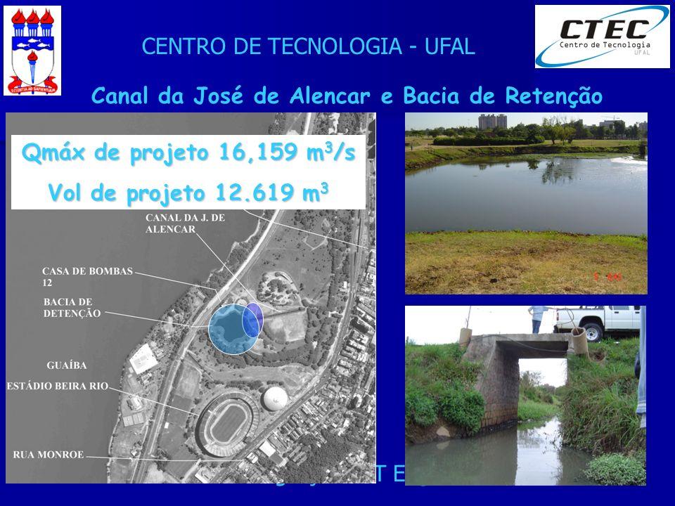 Canal da José de Alencar e Bacia de Retenção