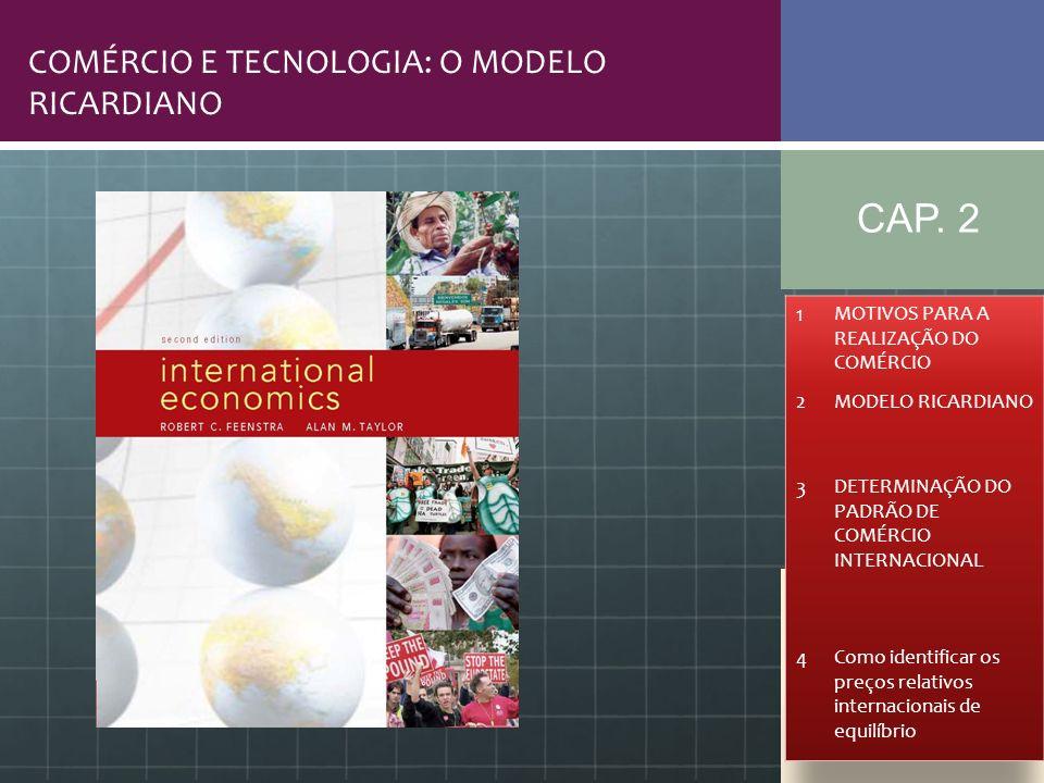 CAP. 2 COMÉRCIO E TECNOLOGIA: O MODELO RICARDIANO 1