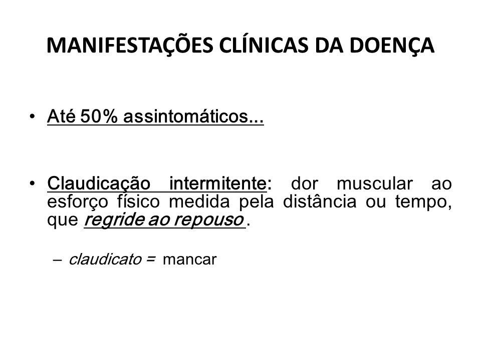 MANIFESTAÇÕES CLÍNICAS DA DOENÇA