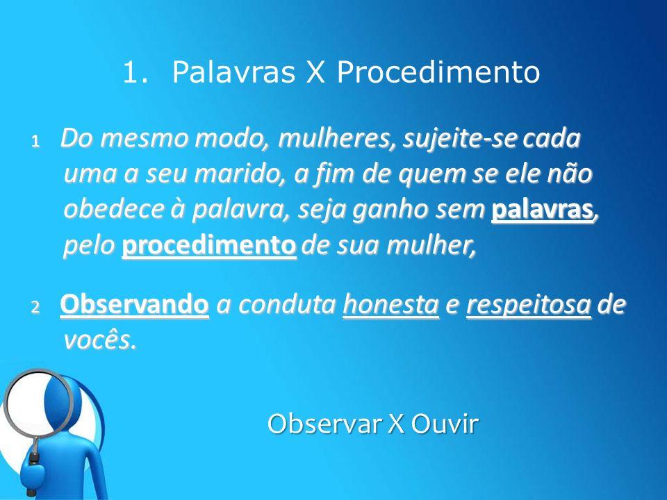 1. Palavras X Procedimento