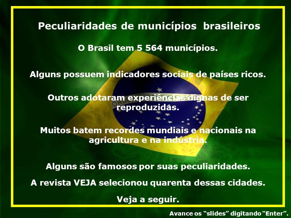 Peculiaridades de municípios brasileiros