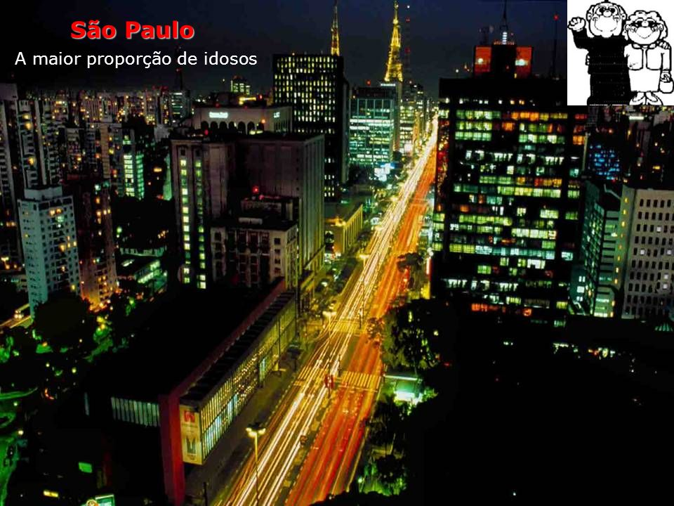 São Paulo A maior proporção de idosos