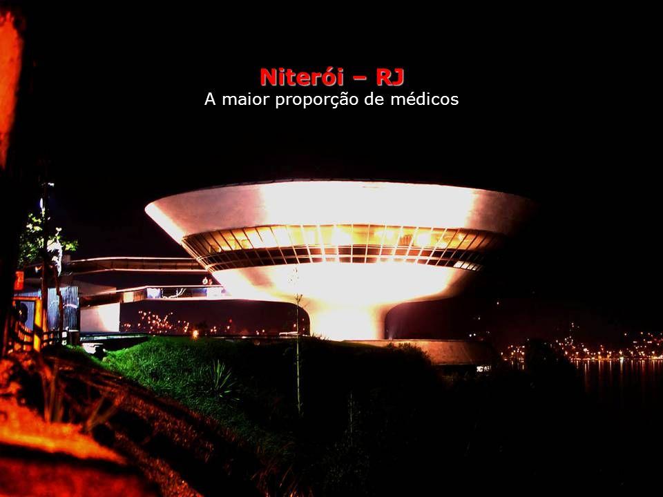 Niterói – RJ A maior proporção de médicos