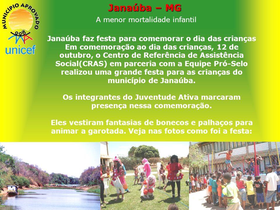 Janaúba – MG A menor mortalidade infantil