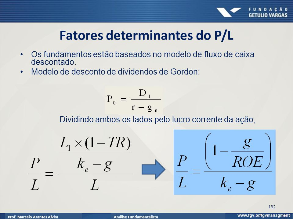 Fatores determinantes do P/L