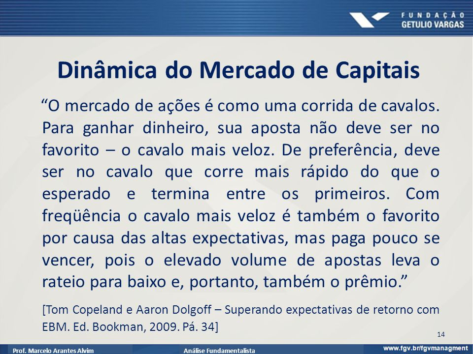 Dinâmica do Mercado de Capitais