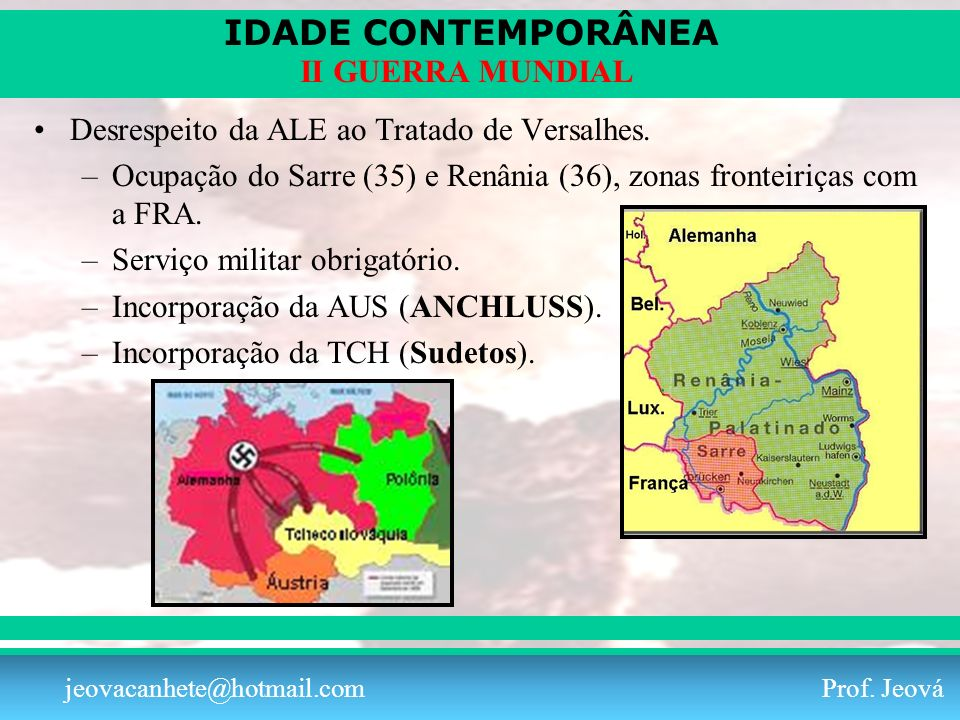 Desrespeito da ALE ao Tratado de Versalhes.
