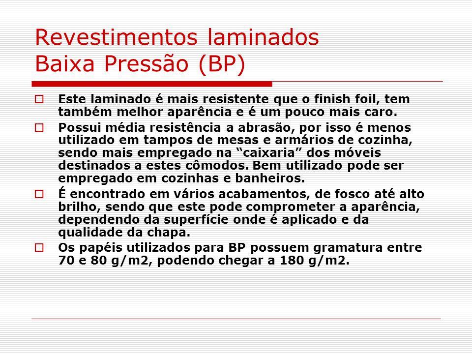 Revestimentos laminados Baixa Pressão (BP)