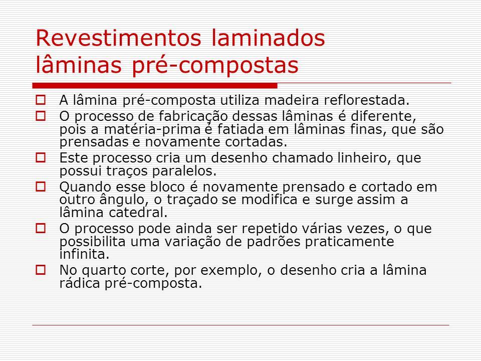 Revestimentos laminados lâminas pré-compostas