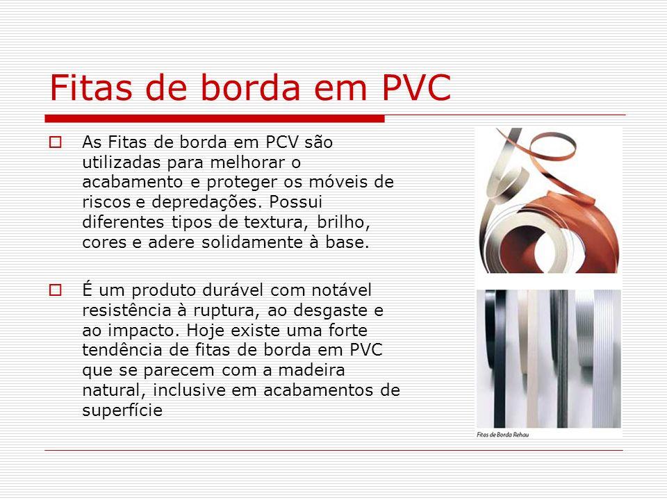 Fitas de borda em PVC
