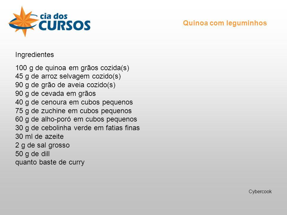 Quinoa com leguminhos Ingredientes