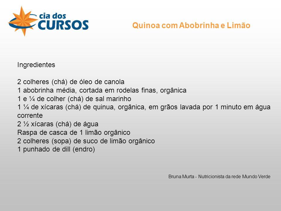 Quinoa com Abobrinha e Limão