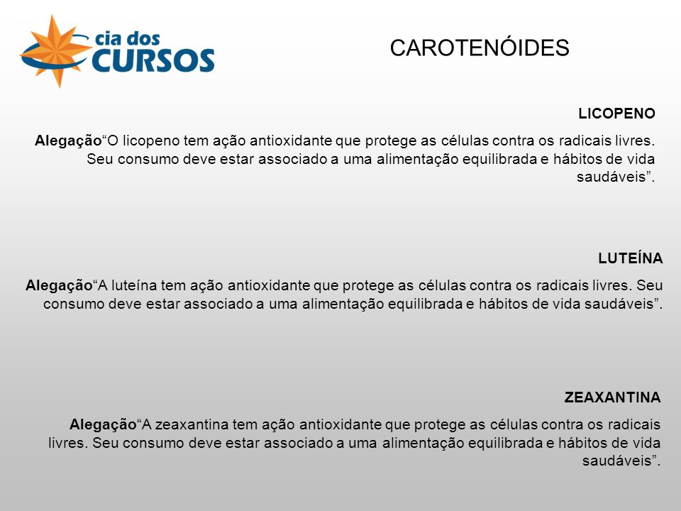 CAROTENÓIDES LICOPENO