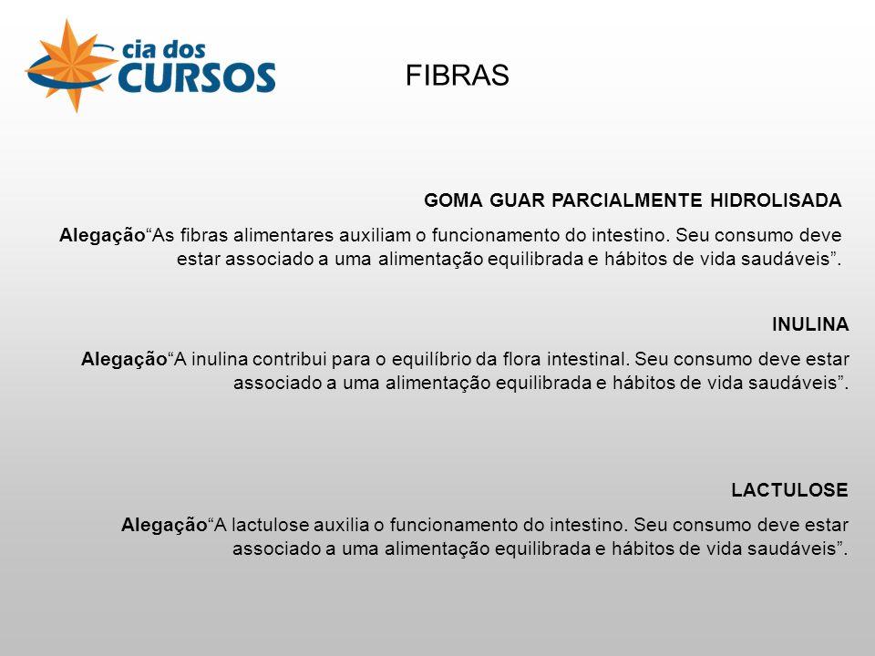 FIBRAS GOMA GUAR PARCIALMENTE HIDROLISADA