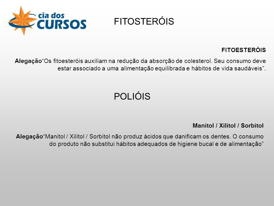 FITOSTERÓIS POLIÓIS FITOESTERÓIS