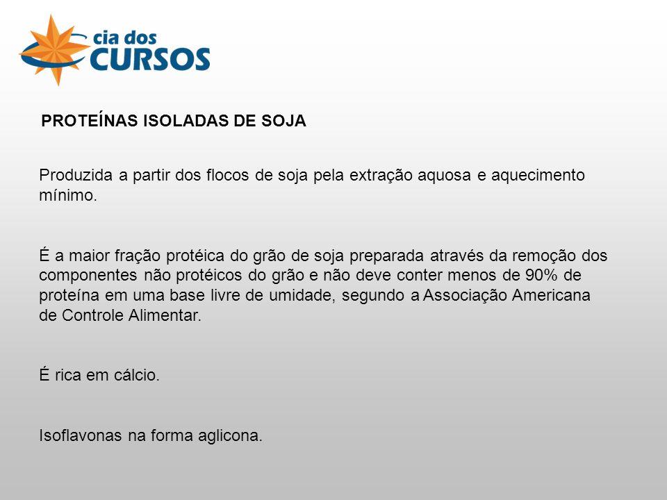 PROTEÍNAS ISOLADAS DE SOJA