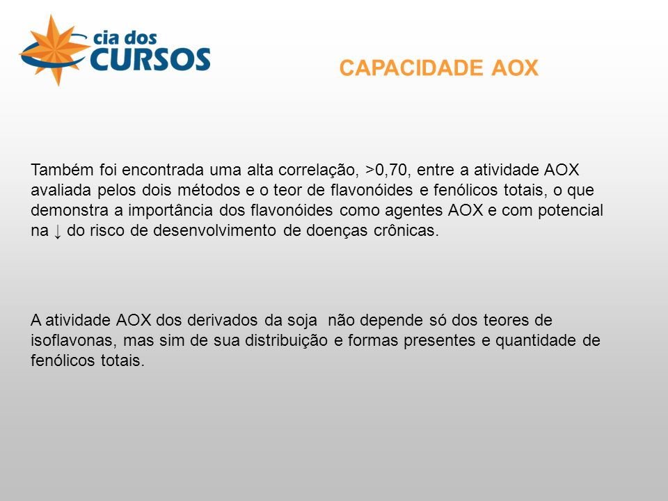 CAPACIDADE AOX
