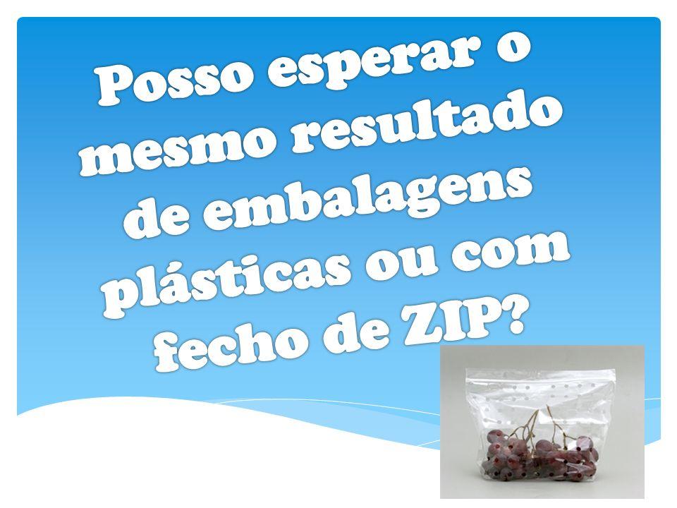 Posso esperar o mesmo resultado de embalagens plásticas ou com fecho de ZIP