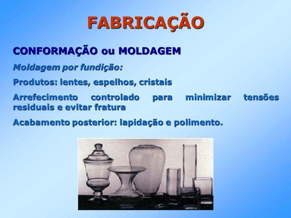 FABRICAÇÃO CONFORMAÇÃO ou MOLDAGEM Moldagem por fundição: