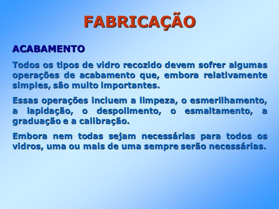 FABRICAÇÃO ACABAMENTO