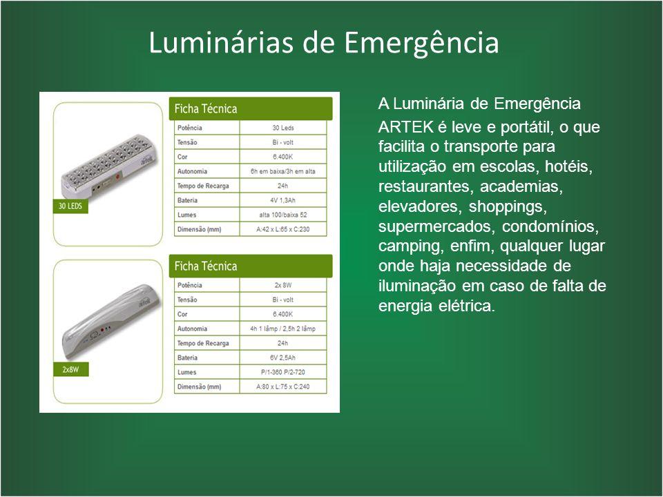 Luminárias de Emergência