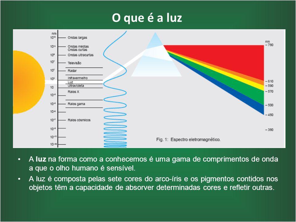 O que é a luz A luz na forma como a conhecemos é uma gama de comprimentos de onda a que o olho humano é sensível.