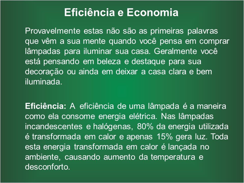 Eficiência e Economia