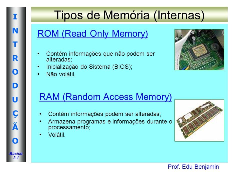 Tipos de Memória (Internas)