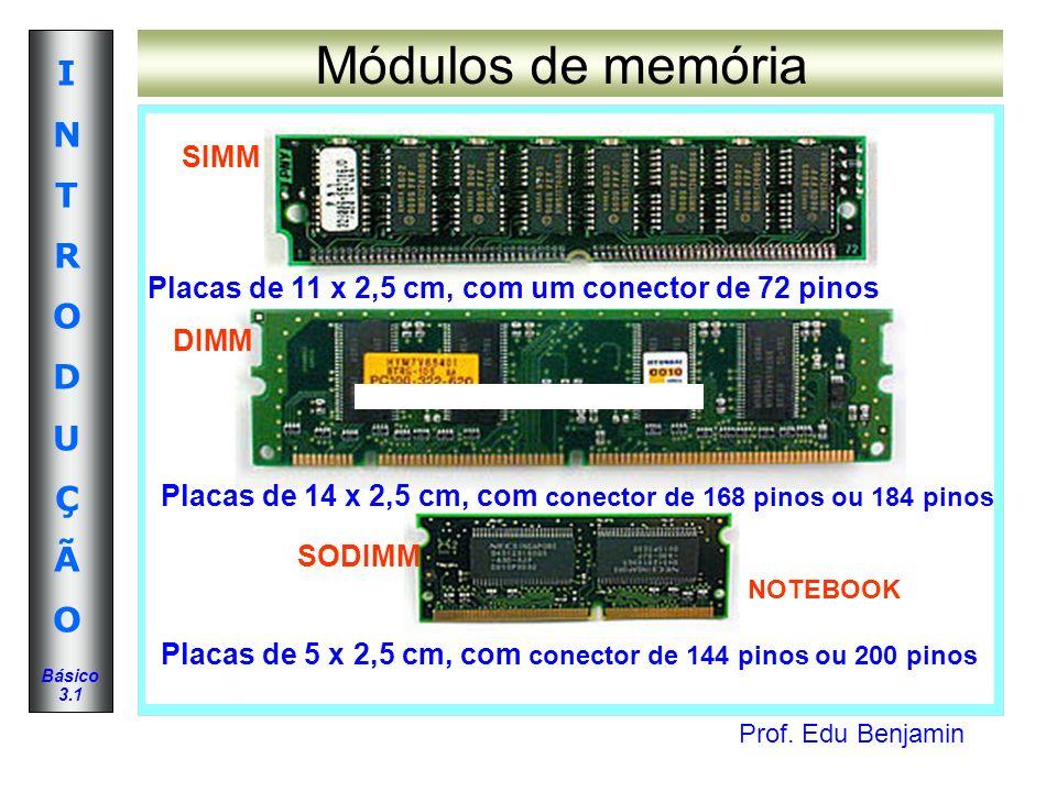 Módulos de memória SIMM