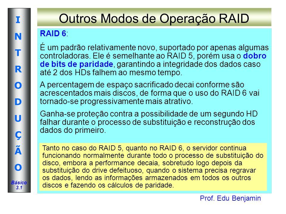 Outros Modos de Operação RAID